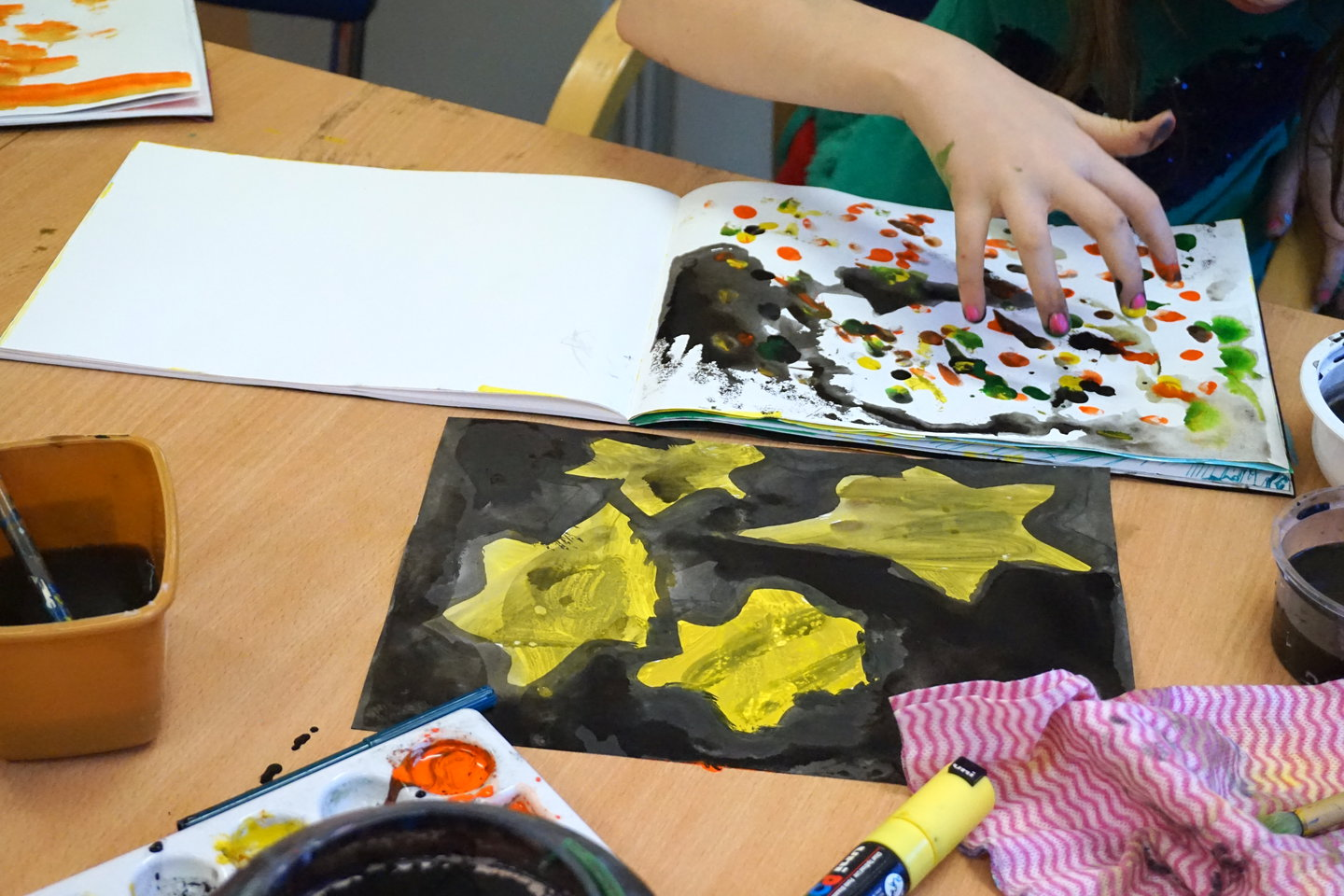 Community art group at The Maryhill Hub
