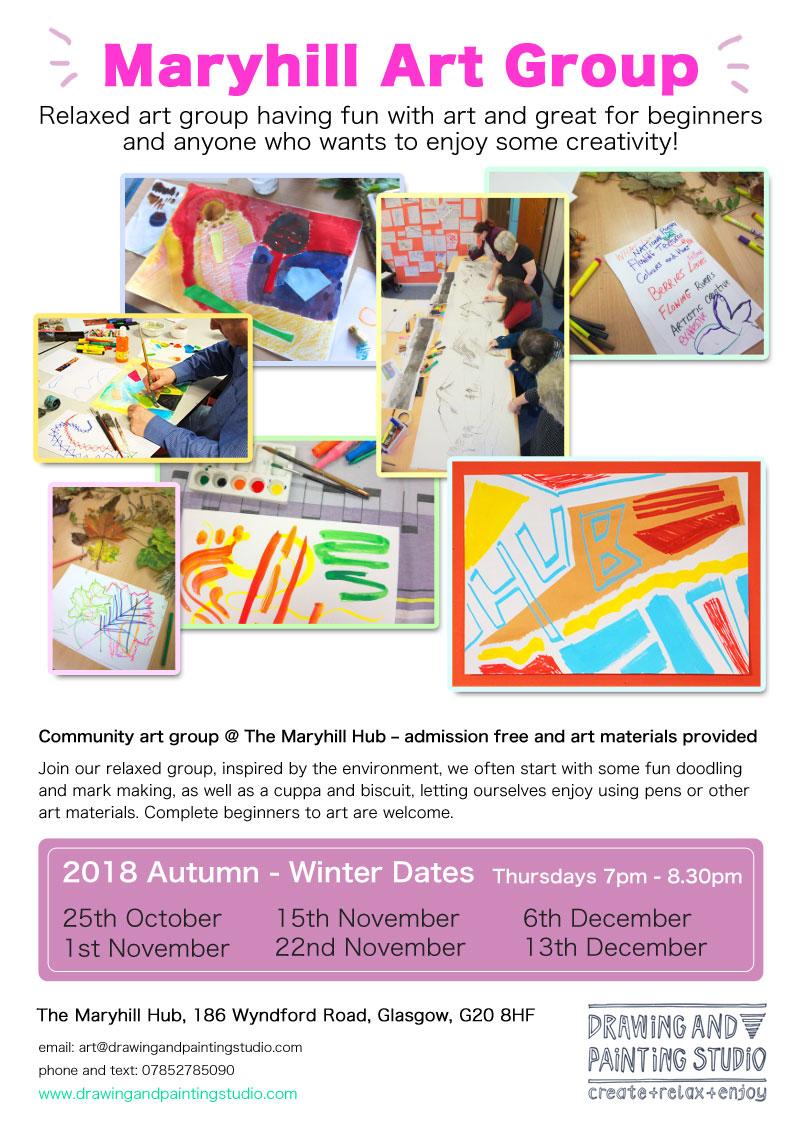 Maryhill Art Group Autumn - Winter 2018 flyer