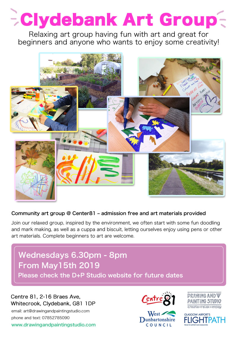 Clydebank Art Group flyer May 2019